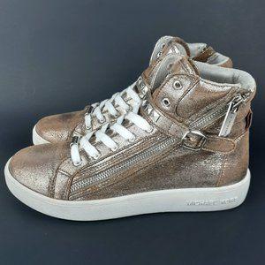Michael Kors Gold High Top Sneakers